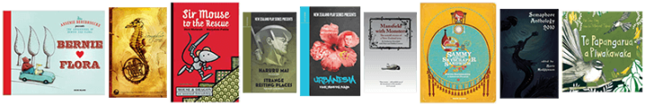 A banner showing the covers of several books I have worked on